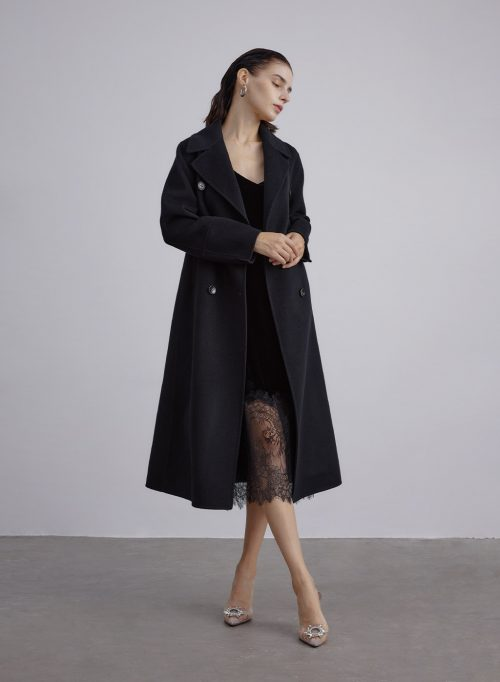 Empire Silk Wool Blend Coat is $319 (20% off)